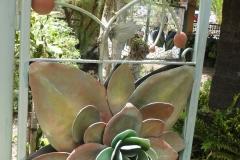 Schmiedeeisernes Gartentor des Stadtparks Los Llanos