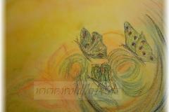 Butterfly-Kunst-in-Pastellkreide